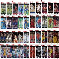 meias longas homens venda por atacado-Meias de Esportes adultos 3D Impresso Meias dos homens 3D Unisex Basketballf Footbal Meia Personalizada de Algodão Macio Hip-Hop Meias Longas Estilo Mix