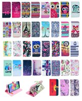 Wholesale Tribal Wallet Iphone Cases - 82 Styles Wallet Flip Leather Dream Catcher Aztec Flower Nutella Tiger Tribal Case For iPhone 4 4S 5 5S 5C 6 Plus Samsung Galaxy S5 S6 EDGE
