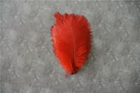 ingrosso piuma di struzzo rossa per matrimoni-100 pz 5-8 pollici piuma di struzzo rosso per centrotavola di nozze decorazione centrotavola festa evento decorazione forniture matrimoni