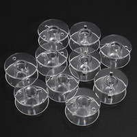 Wholesale Wholesale Sewing Machine Bobbins - 20Pcs Plastic Clear Home Sewing Machine Thread String Empty Bobbin Spools Tools Free Shipping