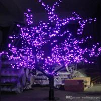 ingrosso alberi di ciliegio per il matrimonio-1.5 m 1.8 m 2 m lucido LED Cherry Blossom albero di Natale illuminazione impermeabile decorazione del paesaggio del giardino lampada per la festa nuziale rifornimento di Natale