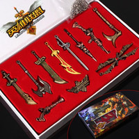 Wholesale Lol Hot - Original box League of Legends LOL 11 Collector's Edition Boxed LOL Characters weapons keychain pendant for Car Key Bag Hot Sale Online