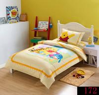 Wholesale Duvet Boy - Light Blue Winnie Pooh & Friends Cartoon Animation 100% Cotton 3pcs Bedding set boys and girls Bed Sets Duvet Cover Bedding Sets New Arrival