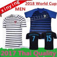Soccer Men Short Thai quality France 2018 GRIEZMANN World Cup POGBA Home  Away soccer Jersey 17  MLB Jerseys ... e18ce1174