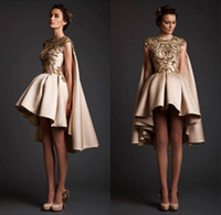 Wholesale Embroidery Collection - Krikor Jabotian Collections 2016 Evening Dresses Gold Embroidery Ball Gowns Abaya Dubai Kaftans Caftan Evening Dresses Short Wedding Gown