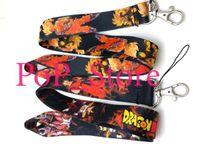 kordon için kancalar toptan satış-Toptan Satış - Dragon Ball anahtarlık LANYARD Boyun Kanca Anahtar Kimliği Tutucu YENİ -3