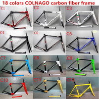 Wholesale Carbon Road Bike Frameset Sale - 2017 HOT SALE colnago C60 road bike carbon frame full carbon fiber road bike frame 46 48 50 52 54 56cm T1000 carbon frameset
