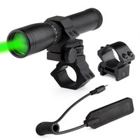Wholesale Nd Green Laser - ND-30 Laser Light Green Laser Designator for Rifle Scope Handheld Light Switch Mount Night Hunting Camping lamp Laser Genetics