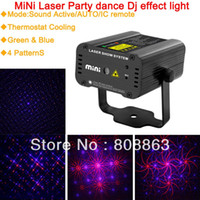 Wholesale Mini 4p - new 2015 Mini IR 200MW RED Blue 4P Multi-Pattern Laser Projector Stage DJ lighting Dance Show Party Light D12 free shipping