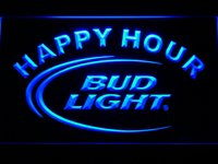 Wholesale Happy Hour Signs - 601 Bud Light Lite Beer Bar Happy Hour LED Neon Light Sign Wholesale Dropshipping Free Ship