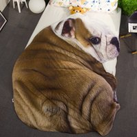 Drop Shipping Animal Cartoon Cobertura de verão Cobertores Dog Cat Throw Blanket for Beds Cobertura de cama Sofa Plaids Bedspreads Home