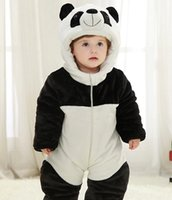 Wholesale Toddler New Years Outfit - Panda Child Kigurumi Baby Pajamas Toddler Animal Suits Cosplay Outfit Christmas Costume Kid Cartoon Jumpsuits Animal Warm Sleepwear