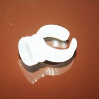 Wholesale Ink Holder Cups - Permanent Makeup Plastic Ring Ink Holder Cup For Tattoo Eyebrow Eyeliner Lip Permanent Makeup Kit Supply 100pcs lot