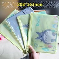 Wholesale 208 mm New Japan Totoro cartoon cat family A5 documents File Bag mesh bag stationery Filing Production