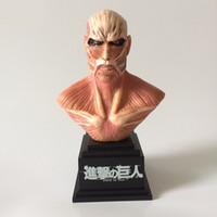 atacar figuras de acción de titanio al por mayor-Ataque en Titán Figura de Acción de Bust 1/8 escala figura pintada Titán Bust Doll figura de PVC Juguete Brinquedos Anime 18 CM