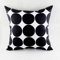 """Wholesale Black Polka Dot Bedding - 18""""*18"""" Black White Polka Dot Abstract Geometric Throw Pillow Case for Couch Bedding Home Warming Gifts"""