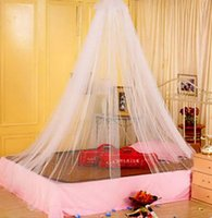 Wholesale Net Rod - Wholesale-1pcs Hot Worldwide Elegant Round Lace Insect Bed Canopy Netting Curtain Dome Mosquito Net
