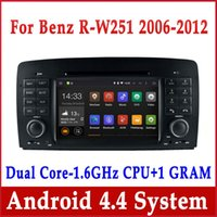 Wholesale Mercedes Navigation Units - Android 4.4 Car DVD GPS Navigation for Mercedes Benz R Class W251 R280 R300 R320 R350 R500 with Radio USB Head Unit