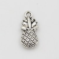 Wholesale Pineapple Antiques - Hot Sales ! 200pcs Antique Silver Alloy pineapple Charms DIY Jewelry 9x19mm