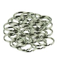 rodadas de níquel venda por atacado-Hot sale 50 pcs KeyRing Kay Cadeia 25mm Rodada Rachada Chave Anéis Keychain Com Nickel Presente para homem mulher