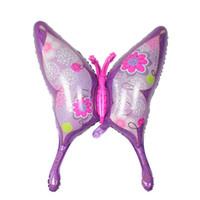 ingrosso felice farfalla-Wholesale- 1 PC 39 pollici grande farfalla stagnola palloncini rosa elio palloncino buon compleanno festa decorazione palle da sposa per bambini regalo del bambino