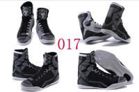 Wholesale Cream Colour Boots - 18 Colours (With Box) Wholesale Kobe KB 9 IX Elite BHM Blackout Christmas Men Basketball Sport Shoes