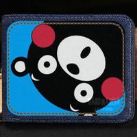 Wholesale korean cute photos resale online - Kumamon wallet Cute bear anime purse Hot cartoon short cash note case Money notecase Leather burse bag Card holders