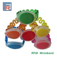 Wholesale Rfid Printed Cards - 2017 Customed Logo number printing on RFID wristband Bracelet with em chip for access control swimming pool fitness sauna water park