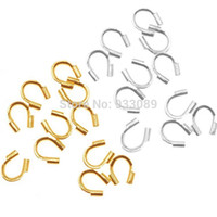 Wholesale Wire Guard Protectors - Wholesale-metal Wire Guard Guardian Protectors loops Jewelry findings 58-423 500pcs free shipping