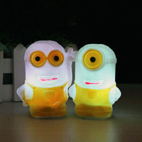 Wholesale Wholesale Minion Lamps - RGB Changing Color Minions Model LED Night Light Lamp Powered by 3pcs AG13 Battery, EVA Material Batteries Included