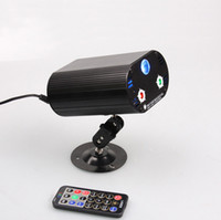 Wholesale Voice Activated Remote Control - 36 in 1 RGB 3W laser light with remote control 3 holes 36 patterns laser stage lights Voice KTV disco LED Effects lights