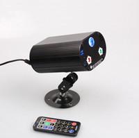 Wholesale Laser Stage Lighting Remote Control - 36 in 1 RGB 3W laser light with remote control 3 holes 36 patterns laser stage lights Voice KTV disco LED Effects lights