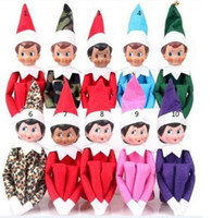 Wholesale Wholesale Sell Christmas Elves - Christmas Elf Doll Plush Toys On The Shelf Elves Xmas Dolls Stuffed Toy Best Gifts For Kids Holiday Birthday Gift 10 Style hot-sell