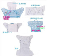 Wholesale Microfiber Bamboo Inserts - 2014 Factory price FREE dhl 3 layer microfiber baby cloth nappy diaper liners insert soaker washable reuseable SIZE,34*13cm 500 LOT H399