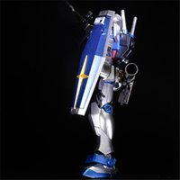 Wholesale Bandai Gundam 144 - Manual Plating color series BANDAI RX-78 gundam 1 144 model 13 CM Robot Puzzle assembled boy toys Anime Furnishing articles