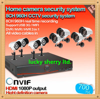 Wholesale 3g Cctv Surveillance Camera - CIA-Free Shipping,The video surveillance 8ch 960h CCTV DVR HVR NVR system 700tvl security camera system with hdmi, 3g wifi onvif 2.0