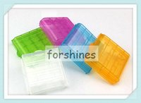Wholesale Cheap Aa Battery Holders - 20pcs,AA AAA Battery case batteries cases Portable Hard Plastic Case Holder Storage Box transparent color cheap price high quality container