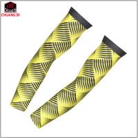ingrosso maniche bracciali gialle-Manicotto giallo per polsini con protezione solare Manicotto da ciclismo manica da ciclismo manica lunga da ciclismo