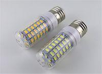 lámparas de alto brillo led e27 al por mayor-Lámpara LED de alta luminosidad 220V / 110V 25W LED SMD 2835 con bombilla, lámpara de bombilla 102leds, blanco cálido / blanco 2835 E27 Luz de maíz