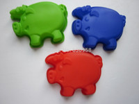 Wholesale Pig Tray - 10 pcs lot 100% silicone pig mould,ice tray,chocolate mould,jelly mold,FDA ,food grade ,free shipping