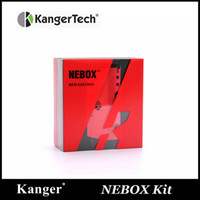 kit de inicio nebox de kangertech al por mayor-100% Original Kanger Nebox Starter Kit Kanger Nebox e-cigarette 60w Kangertech Nebox TC VW Kit con capacidad de 10 ml