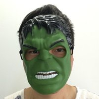 Wholesale Facing Giants - Green Giant Hulk Cartoon Mask Avengers Alliance Super Hero Full Face Halloween Party Mask free shipping