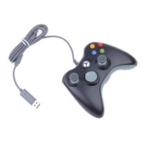 Wholesale wireless pc gamepad - New Black White USB Wired Gamepad Controller For MICROSOFT Xbox 360 & Slim PC Windows Free Shipping