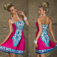 Wholesale Summer Wrap Skirts Wholesale - European And American Trade Wrapped Chest Waist Skirt Ice Milk Silk Dress Sleeveless Dress Bra Dress 5 Color 5 Size B-721