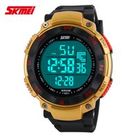 Wholesale Waterproof Boys Watch Green - SKMEI SK1024 men's digital watch, sports digital relogio waterproof swim wristwatch, led military watch, gift watch for men boy