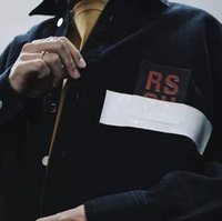 Wholesale Neck Tape - RAF SIMMONS 17FW DENIM JACKET PVC TAPE ASAP ROCKY STYLE LOng Sleeve JACKET Catwalk Show Product