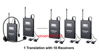 Wholesale Takstar Tour Guide System - Takstar WTG-500 Wireless Acoustic Transmission System Tour Guiding Simultaneous Translation Audio-visual Eduation 1 transmitter 10 receivers