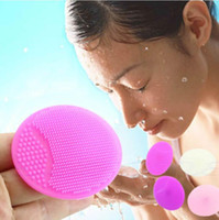 Wholesale Scrubbing Pads - Facial Exfoliating Brush Infant Baby Soft Silicone Wash Face Cleaning Pad Skin SPA Scrub Cleanser Tool