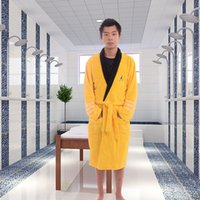 Wholesale Yellow Star Costume - New Star Trek Items Spock BathRobe Fleece Sleepwear Yellow Robe Cosplay Costume Xmas Birthday Gifts for Man