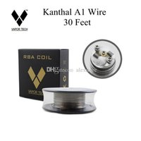 Wholesale A1 Vapors - 100% Authentic Vapor Tech A1 Wire 30 Feet 30Ft AWG 24g 26g 28g 30g 32g Gauge for RDA RBA Coil DHL
